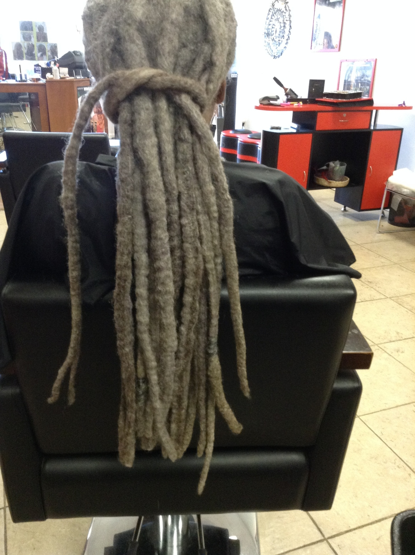 Bee shows examples after Dreadlock Hair cut
