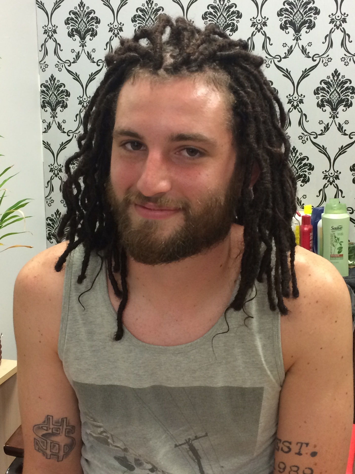 Instant Dread Extensions On Caucasian Client Short Hair